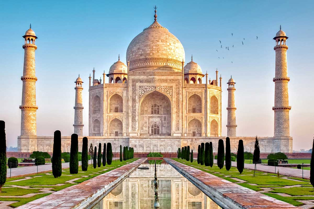 The beautiful Taj Mahal, Delhi City, India