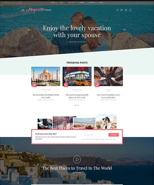Demo Travel Blog